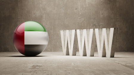 url virtual: United Arab Emirates  WWW Concept Stock Photo