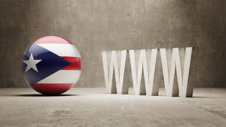 url virtual: Puerto Rico   WWW Concept