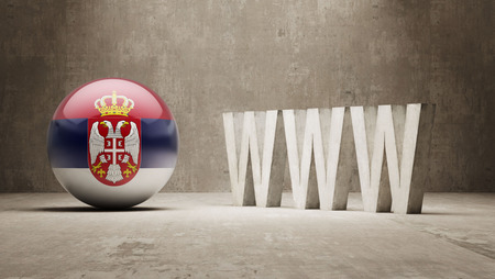 url virtual: Serbia   WWW Concept Stock Photo