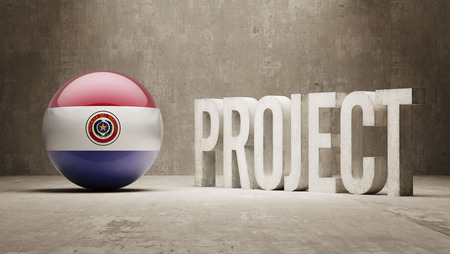 paraguay: Paraguay  Project Concept Stock Photo