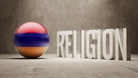worshipper: Armenia  Religion Concept