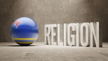 worshipper: Aruba Religion Concept