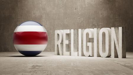 costa: Costa Rica Religion Concept