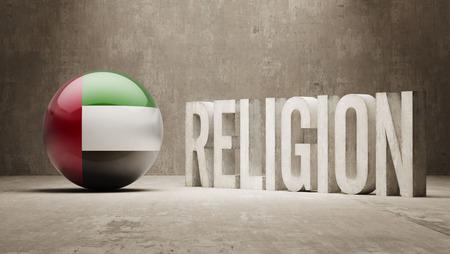 worshipper: United Arab Emirates Religion Concept