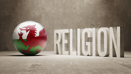 worshipper: Wales Religion Concept