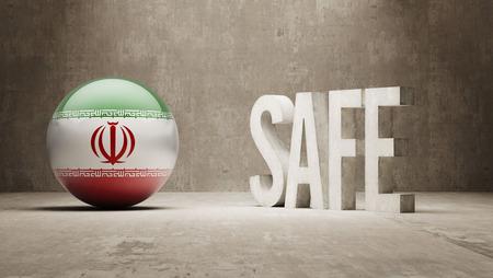 cautionary: Iran  Safe Concept Stock Photo