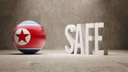 safely: North Korea High Resolution Safe Concept Stock Photo