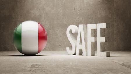 cautionary: Italy Safe Concept