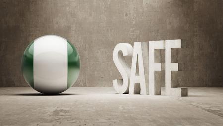 cautionary: Nigeria Safe Concept Stock Photo