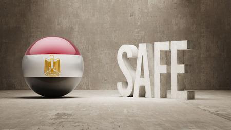 cautionary: Egypt  Safe Concept Stock Photo