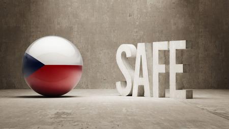 cautionary: Czech Republic   Safe Concept Stock Photo