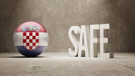 cautionary: Croatia   Safe Concept Stock Photo