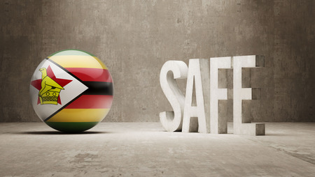 safely: Zimbabwe Safe Concept Stock Photo