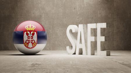 cautionary: Serbia  Safe Concept Stock Photo