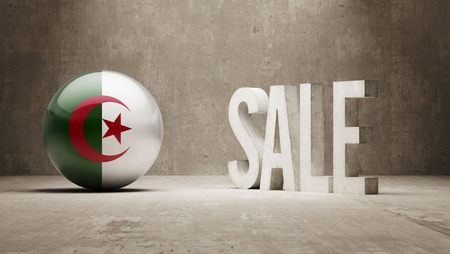 algeria: Algeria  Sale Concept