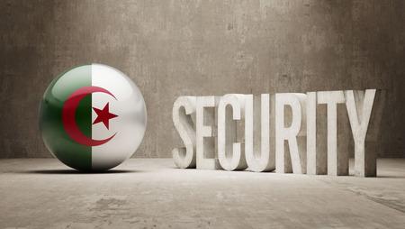 algeria: Algeria  Security Concept Stock Photo