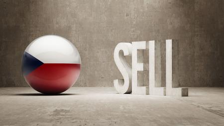 czech republic: Czech Republic Sell Concept