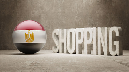 consumerist: Egypt   Shopping concept
