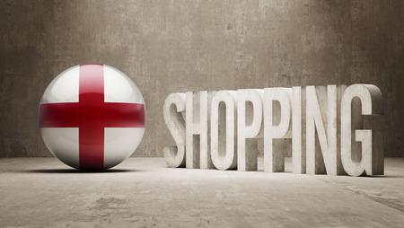 consumerist: England    Shopping concept Stock Photo
