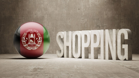 consumerist: Afghanistan  Shopping concept Stock Photo