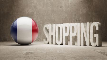 consumerist: France  Shopping concept Stock Photo