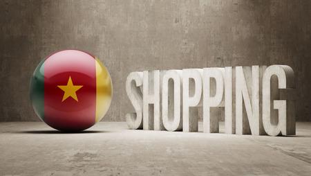 consumerist: Cameroon   Shopping concept Stock Photo