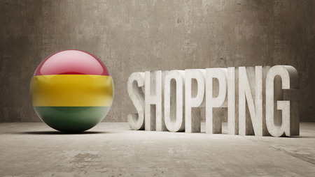 consumerist: Bolivia  Shopping concept Stock Photo