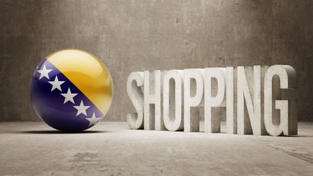 consumerist: Bosnia and Herzegovina  Shopping concept Stock Photo