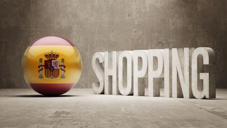 consumerist: Spain  Shopping concept Stock Photo