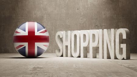 consumerist: United Kingdom Shopping concept Stock Photo