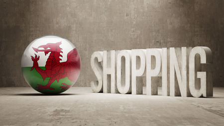 consumerist: Wales  Shopping concept Stock Photo