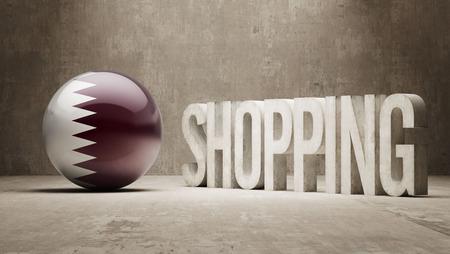 consumerist: Qatar  Shopping concept Stock Photo