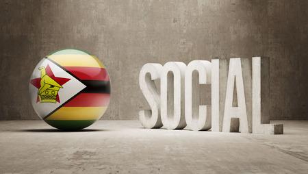 societal: Zimbabwe Social Concept Stock Photo