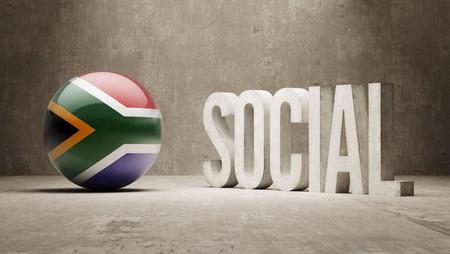 societal: South Africa High Resolution Social Concept