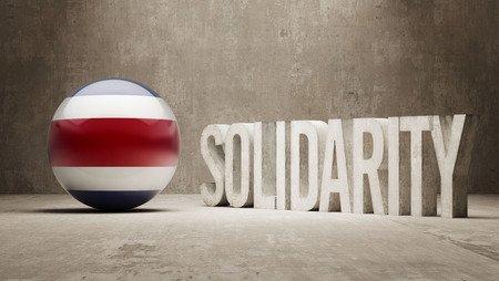 costa rica: Costa Rica  Solidarity Concept Stock Photo
