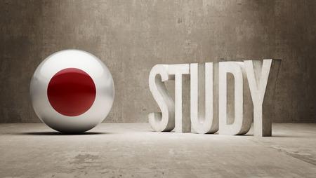 study concept: Japan  Study Concept Stock Photo