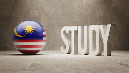 study concept: Malaysia  Study Concept Stock Photo