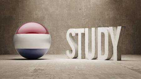 study concept: Netherlands   Study Concept Stock Photo