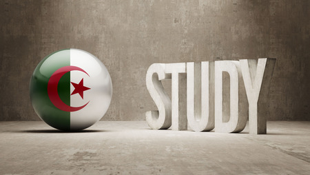 study concept: Algeria  Study Concept Stock Photo