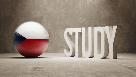 study concept: Czech Republic  Study Concept Stock Photo