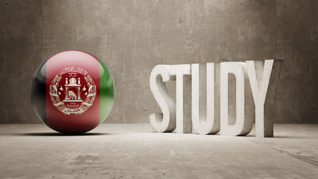 study concept: Afghanistan   Study Concept Stock Photo