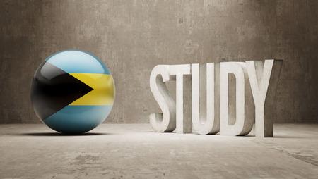 study concept: Bahamas   Study Concept Stock Photo