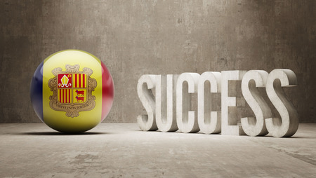 success concept: Andorra Success Concept Archivio Fotografico
