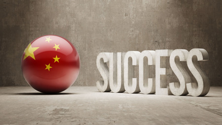 success concept: Cina Success Concept Archivio Fotografico