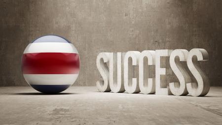 costa rica: Costa Rica  Success Concept Stock Photo