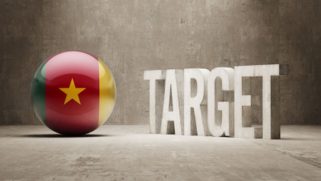 cameroon: Cameroon   Target Concept Stock Photo