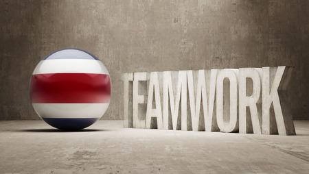 costa rica: Costa Rica  Teamwork Concept Stock Photo