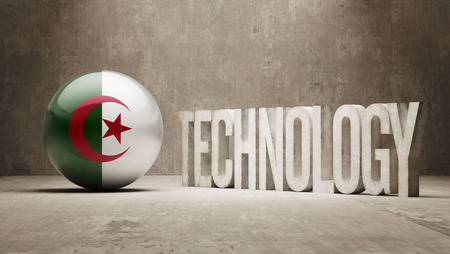 Algeria  Technology Concept photo