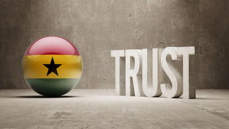 confianza concepto: Ghana Confianza Concept Foto de archivo
