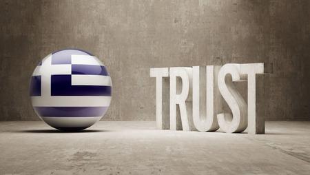 confianza concepto: Grecia Concepto Confianza